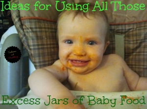 using up your jars of baby food