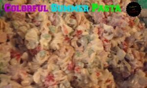 colorful summer pasta