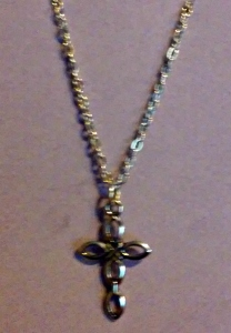 DIY cross necklace