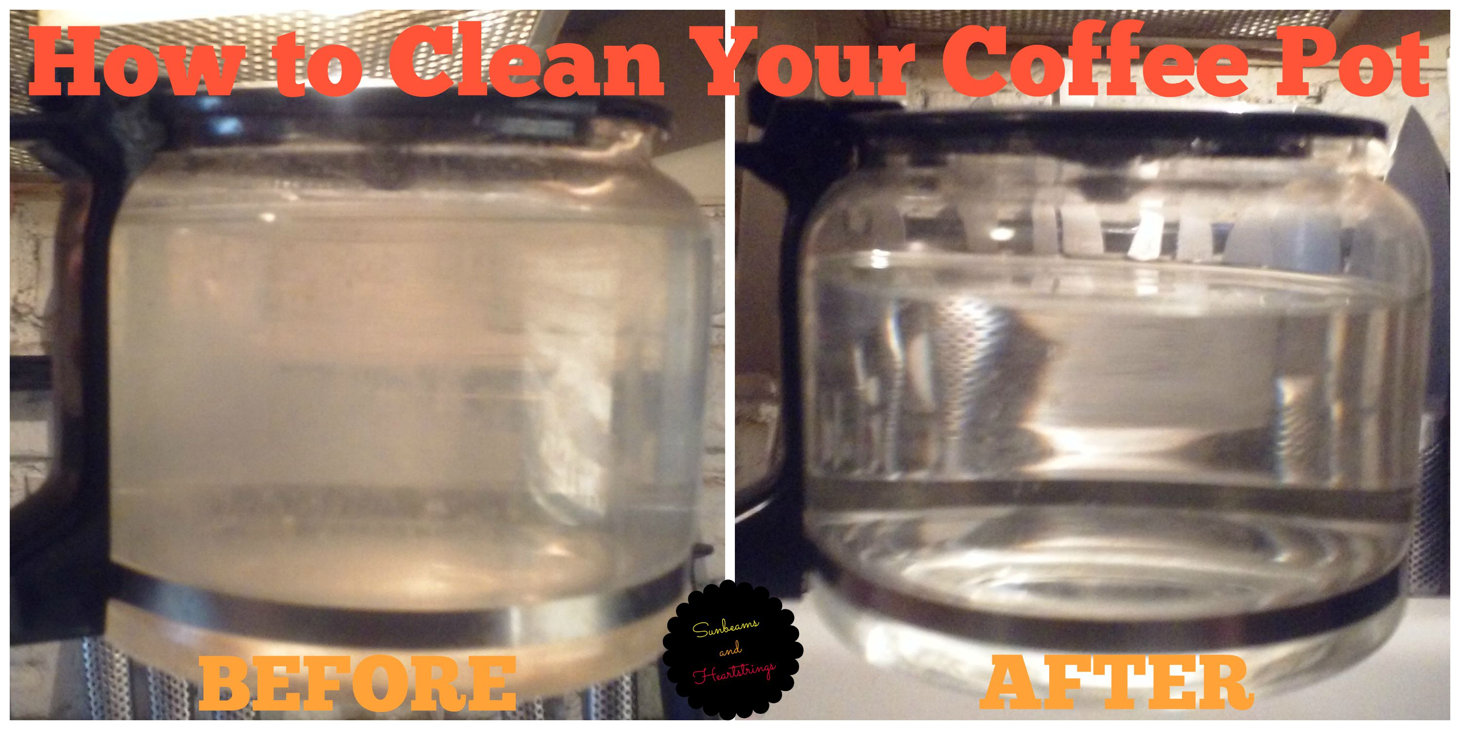 how to get coffee pot clean