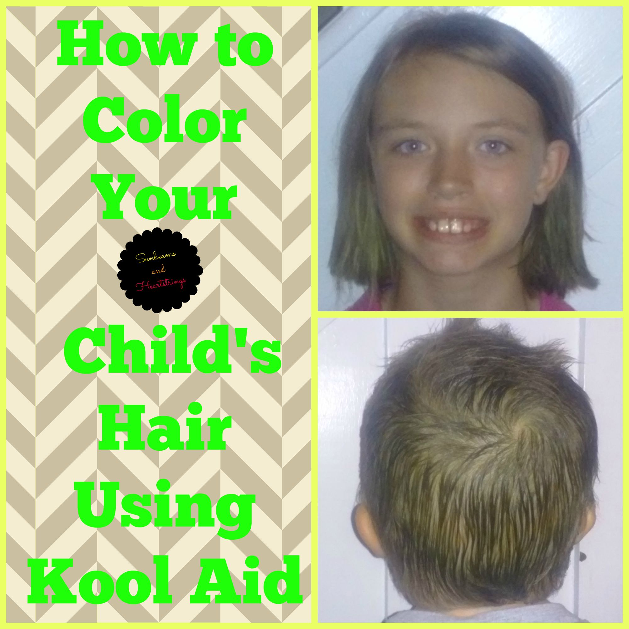 How To Color Your Childs Hair Using Kool Aid Sunbeams And
