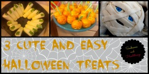 3 Cute and Easy Halloween Treats