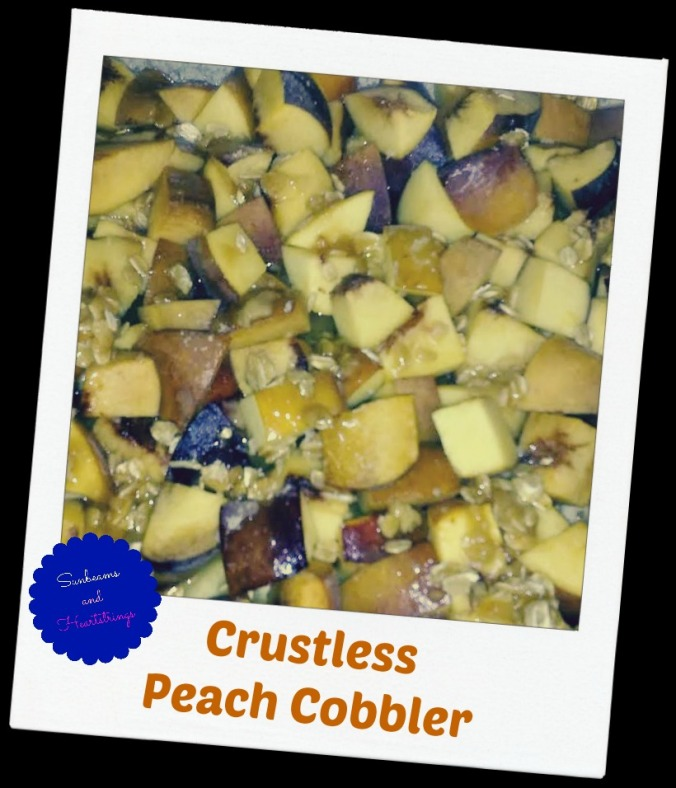 crustless peach cobbler